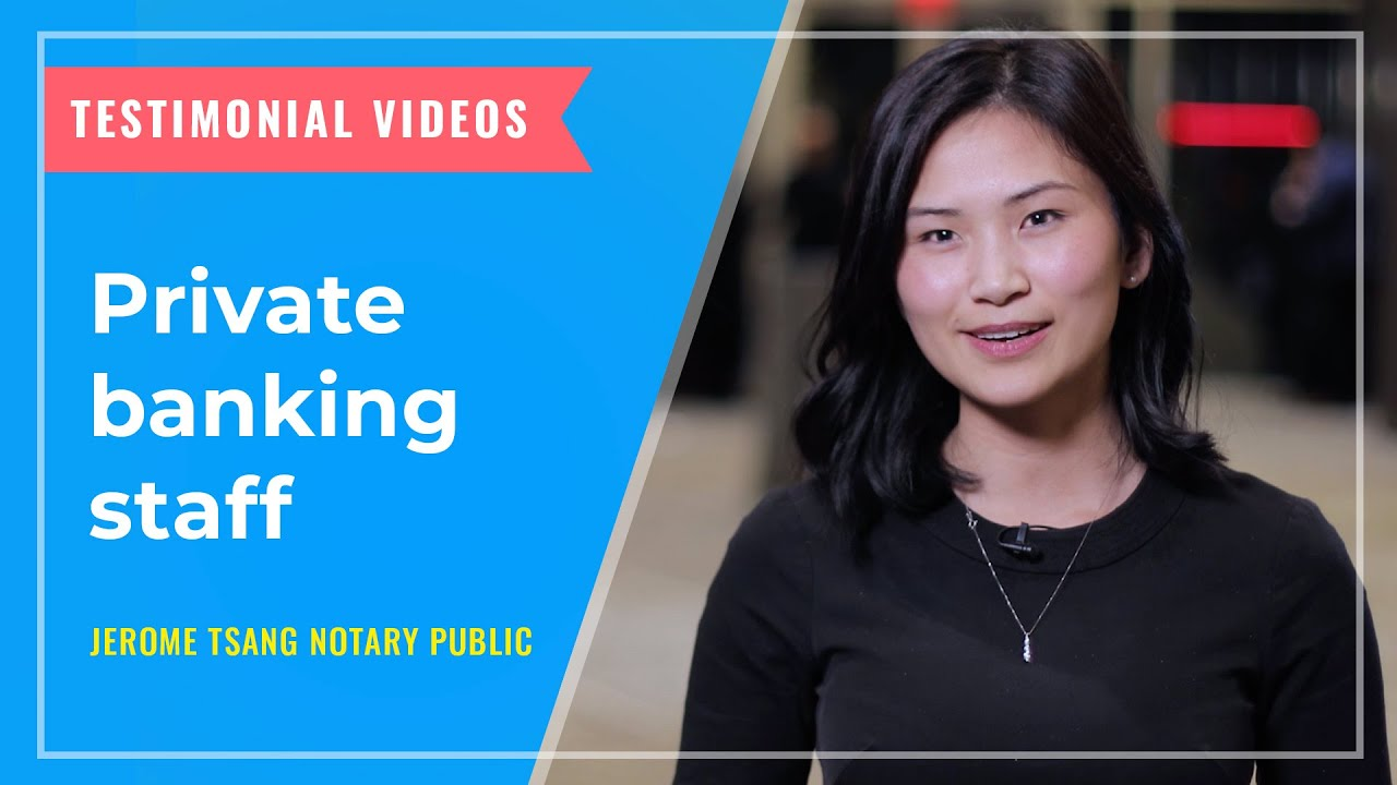 TESTIMONIALS: Private banking staff in Vancouver BC