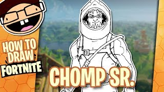 How to Draw CHOMP SR. (Fortnite: Battle Royale) | Narrated Easy Step-by-Step Tutorial