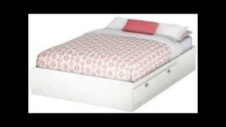 South Shore Spark Full Mates Bed, Pure White
