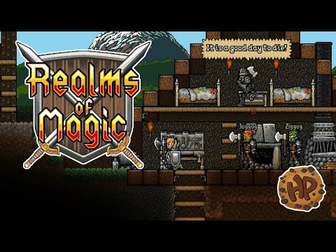 REALMS OF MAGIC! Just like STARBOUND & TERRARIA! | HappyPlays