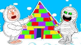 Lion Family 🏺 Journey to the Center of the Earth - Rainbow Pyramid | Cartoon for Kids
