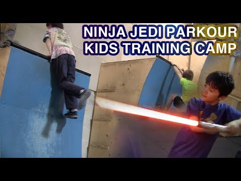 Ninja Jedi Parkour Kids Training Camp!!! (CTC Obstacles)