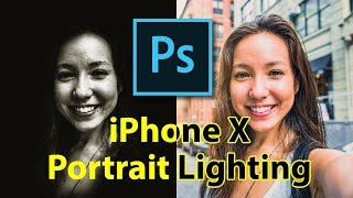 How to create iPhone X Portrait Lighting effect in Photoshop CC