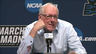 Jim Boeheim press conference after NCAA Tournament loss to Baylor