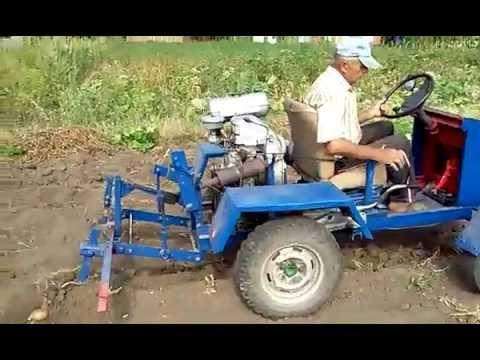 Самодельный трактор с коробкой от заз