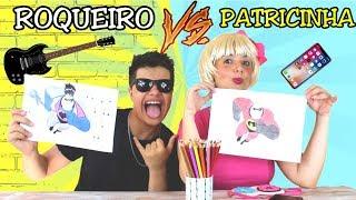 DESAFIO COLORINDO COM 3 CORES na Escola (3MARKER CHALLENGE) PATRICINHA VS ROQUEIRO