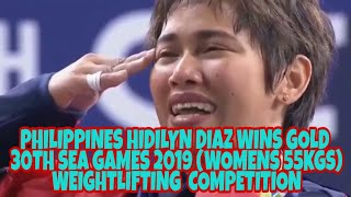 Philippines Hidilyn Diaz Wins Gold 30th Sea Games 2019  Womens 55 Kgs  Weightlifting  Competition.