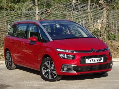 2016 66 citroen c4 grand picasso 1 6 bluehdi feel 5dr in ruby red demo youtube. Black Bedroom Furniture Sets. Home Design Ideas