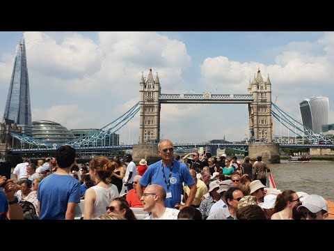 City Cruises London Eye River Cruise, Thames Waterloo To Greenwich With Comic Commentary Summer 2018