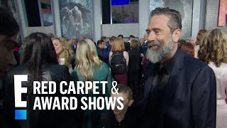 "Jeffrey Dean Morgan Brings Son to ""Rampage"" Premiere 