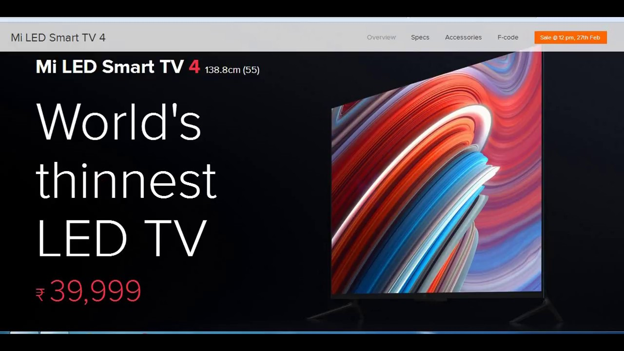Xiaomi MI TV 4 55-Inch 4K HDR Led Smart TV Review, Online Price | Best Led  TV in India 2018