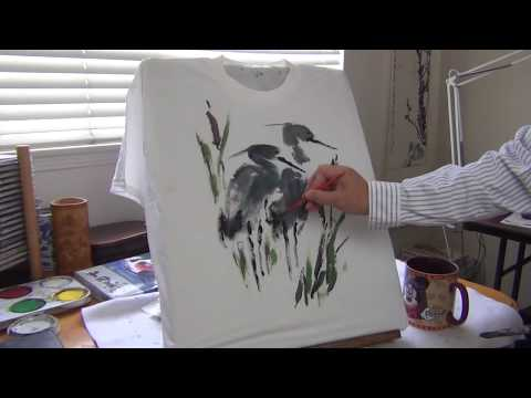 How to Paint T-shirts with Liquid Acrylic Paints