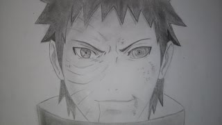 Speed Drawing | Uchiha Obito | Naruto Shippuden