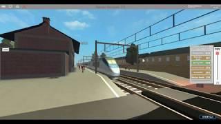 Amtrak Acela quitte la gare Victoria Fields dans terminal Railways (ROBLOX-RAW FOOTAGE)