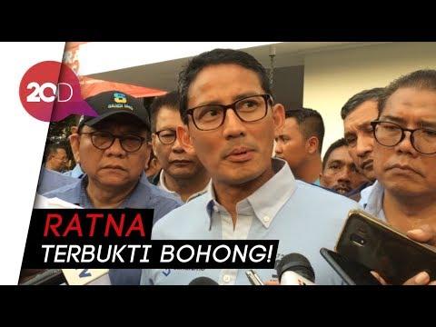 Sandi akan Laporkan Ratna Sarumpaet ke Polisi!