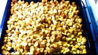 СУХАРИКИ / Как приготовить сухарики в духовке