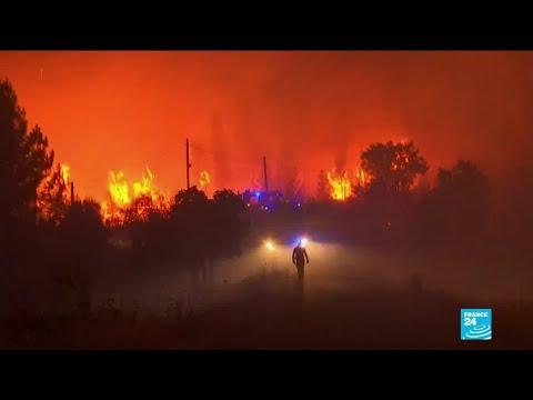 Feux De Forêt Au Portugal : 1 700 Pompiers Mobilisés, Des Incendies Difficiles à Maîtriser