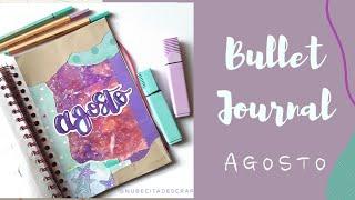 Bullet Journal AGOSTO | Nubecita de scrap