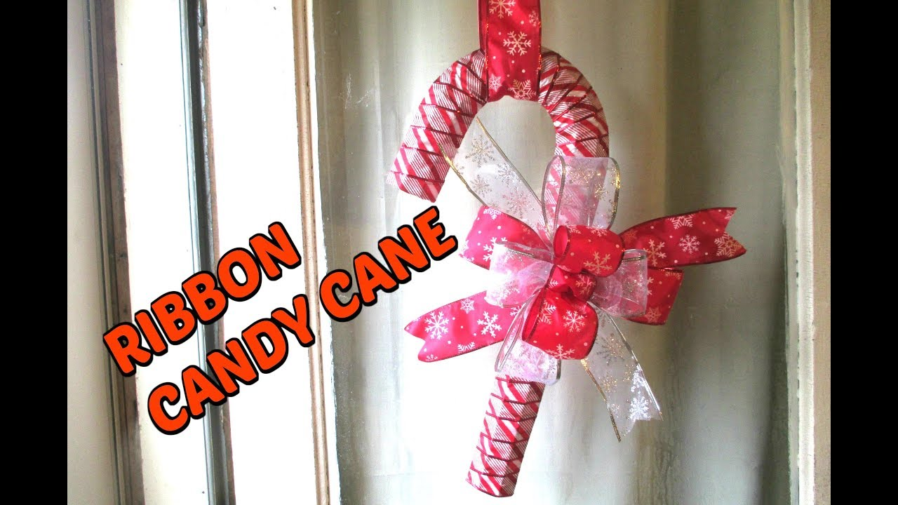 candy cane ribbon christmas wreath dollar tree diy