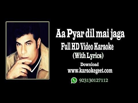 Waris baig-Aa pyar Dil mai Jaga video karaoke with lyrics