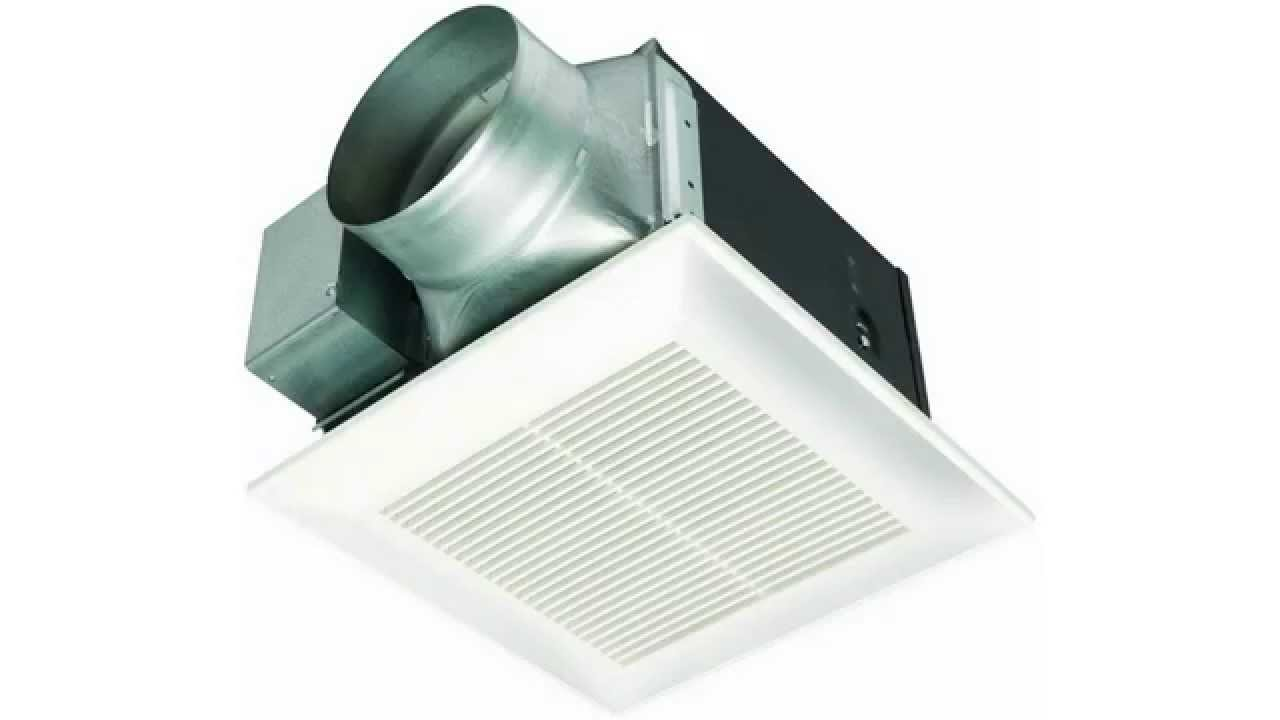 Panasonic Fv 11vh2 Whisperwarm 110 Cfm Ceiling Mounted Fan Heat Combination White Youtube