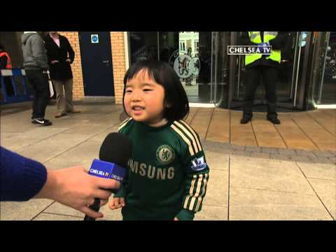Young Chelsea fan sings Blue Is The Colour