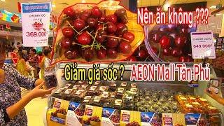 Có nên Ăn cherry Mỹ giảm giá tại siêu thị AEON MALL Tân Phú lớn nhất Việt Nam ???