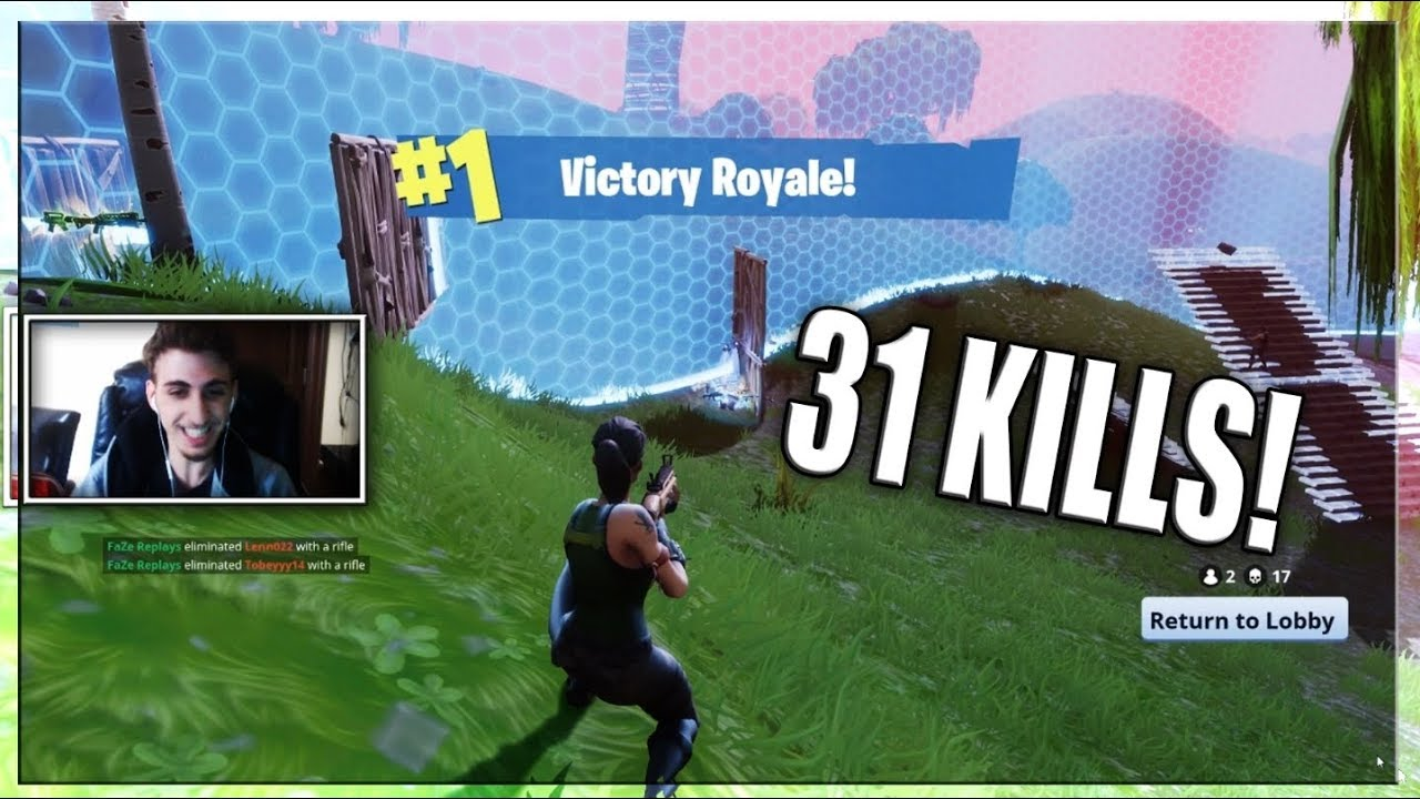Crazy Fortnite 31 Kill Game World Record Youtube