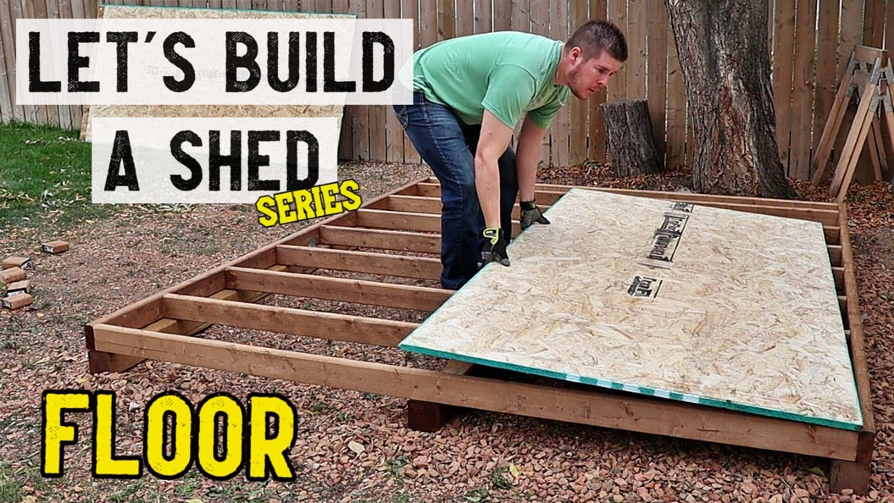 Download How to build a storage shed - Floor   Part 1