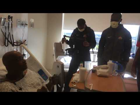 Buckeye players visit patients at the James