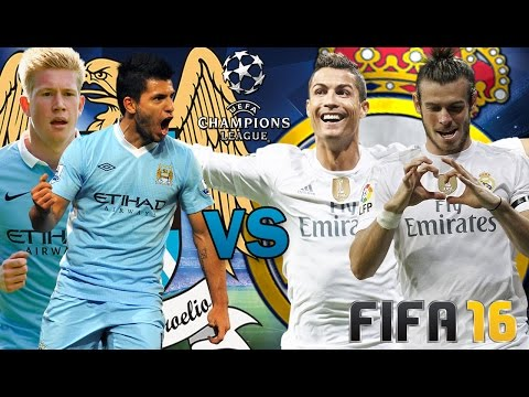 MANCHESTER CITY VS REAL MADRID - SEMIFINAL CHAMPIONS LEAGUE 2016 (IDA) / GAMEPLAY PREDICCION FIFA 16