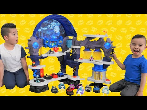 Calvin and Kaison Play With the Biggest Batcave Ever CKN