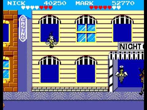 Gangster Town Sega Master System 2 player 60fps