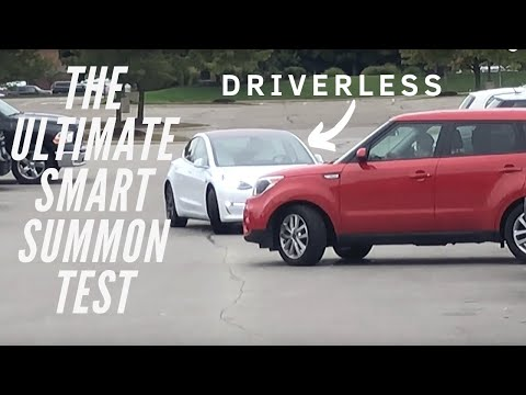 Tesla Smart Summon First Attempt | THE ULTIMATE TEST