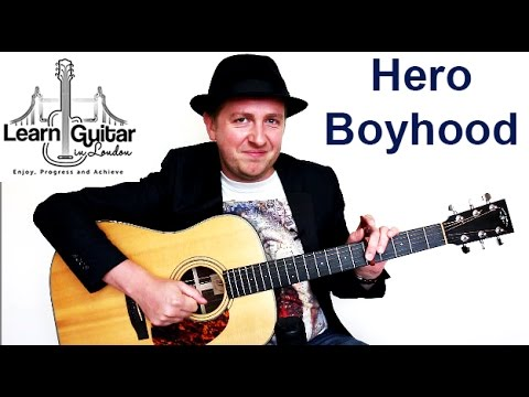 Hero - Family Of The Year - Guitar Tutorial - Boyhood - YouTube