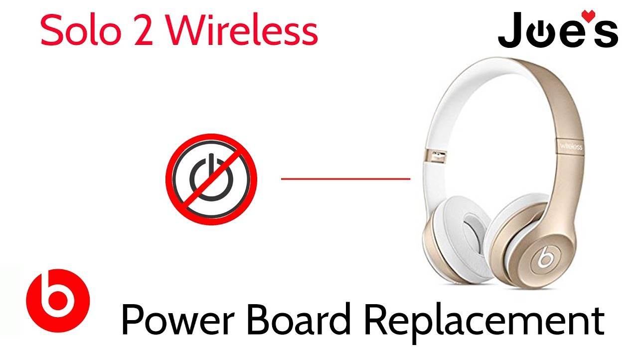 7f536b8e0aa Beats By Dre Beats Headphones Solo 2 Wireless Power Board Replacement Not  Powering On