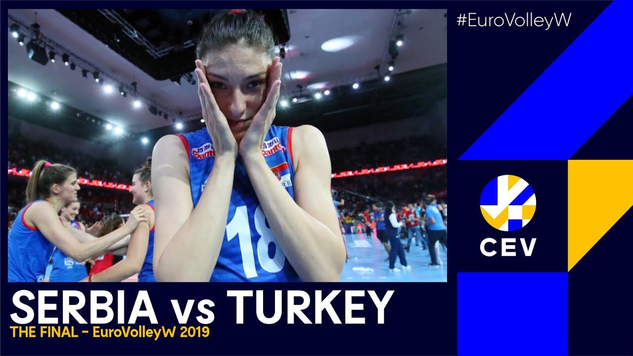 Serbia vs Turkey I #EuroVolleyW 2019 - Gold Medal Final I FULL MATCH