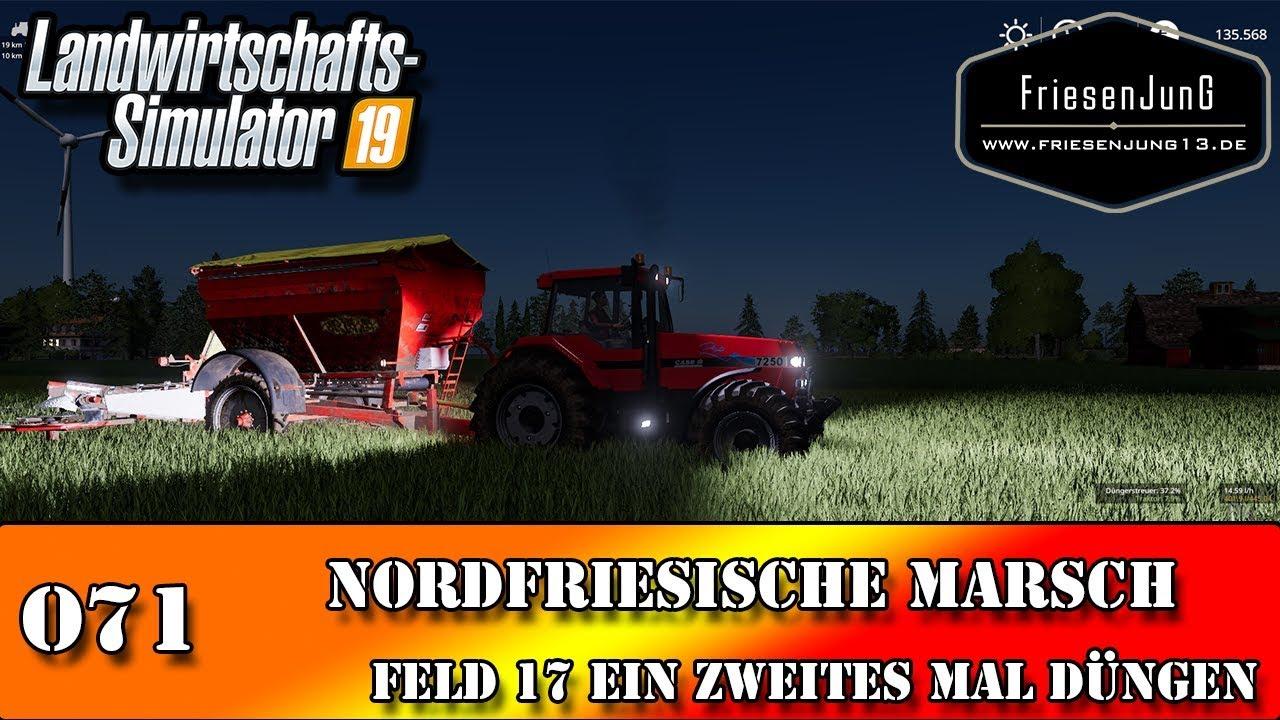 LS19 Nordfriesische Marsch mit Courseplay 071 - Feld 17 ein zweites Mal düngen
