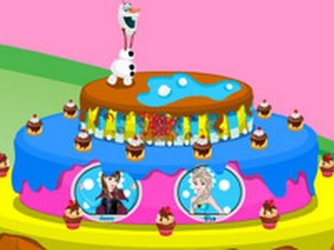 Frozen Olaf Birthday Cake - New Disney Games For Kids - YouTube