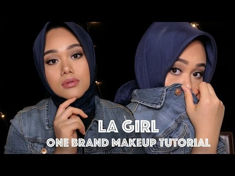 LA GIRL Drugstore One Brand Makeup Tutorial & First Impression   MakeupbyFatya