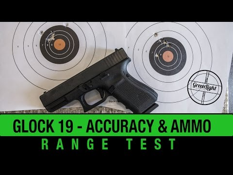 GLOCK 19 Accuracy & Ammo Test - Straight Out of the Box