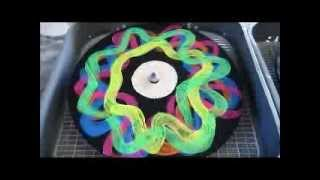 DJ Black Light Neon Turntable Craft Party Records Fun Spin Fluorescent Glow Bright Paint