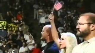 1st National Anthem after 9 11   Lilian Garcia at WWF Smackdown 9 13 01