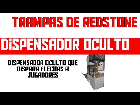 Trampas De Redstone: Dispensador Oculto - Minecraft