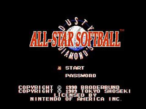 Dusty Diamond's All Star Softball Title Screen