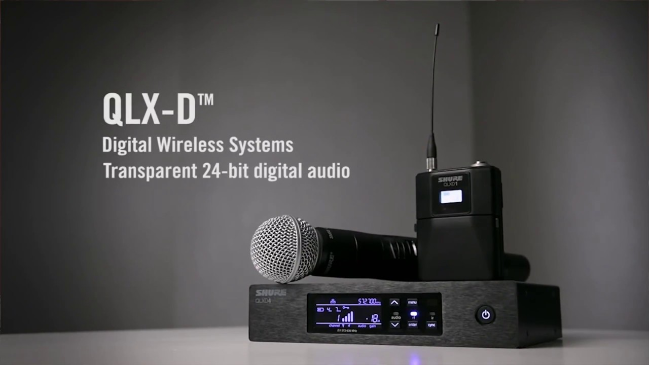 shure qlx d wireless mic review by props av youtube. Black Bedroom Furniture Sets. Home Design Ideas