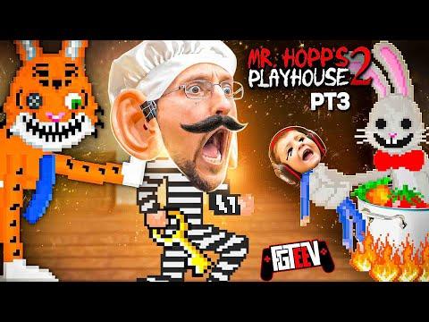 Revenge of the FLUFFY!  Mr. HOPPS Playhouse 2: Chef Duddy = OOF (FGTeeV Part 3)