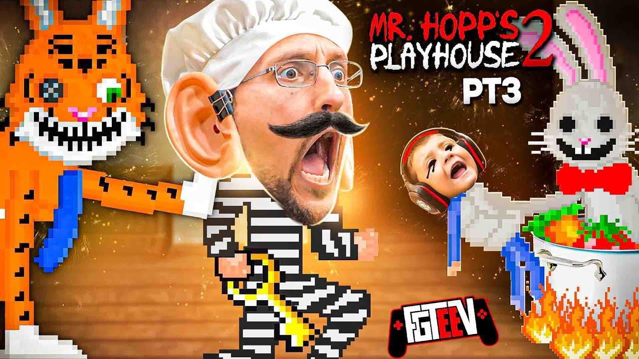 Download Revenge of the FLUFFY!  Mr. HOPPS Playhouse 2: Chef Duddy = OOF (FGTeeV Part 3)