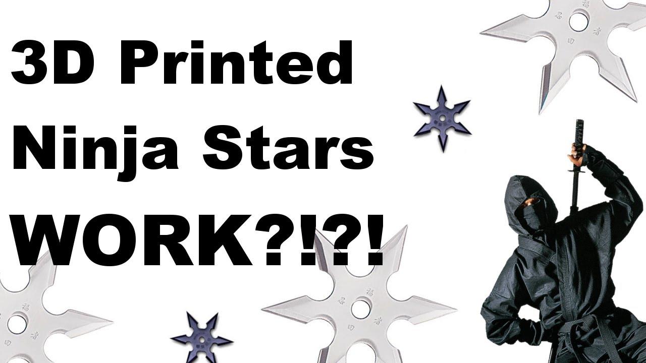 3d printed ninja stars work youtube 3d printed ninja stars work reheart Choice Image