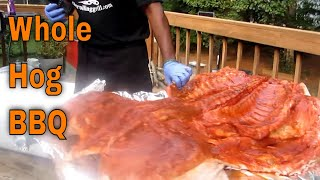 How to Smoke/Roast a Delicious Crispy Whole Pig! - The Rolling Grill